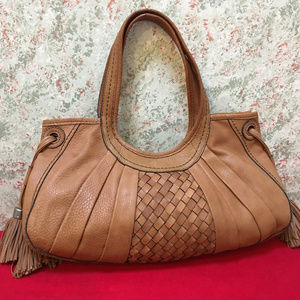FOSSIL FIFTY FOUR Leather MOLLY D/S Tassel Hobo